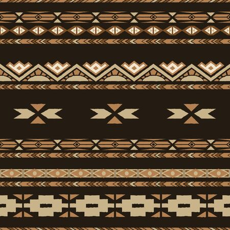antic: Ethnic  seamless pattern with tribal  motives. Ethnic stylized abstract wallpaper. Aztec pattern. seamless background with folk elements .