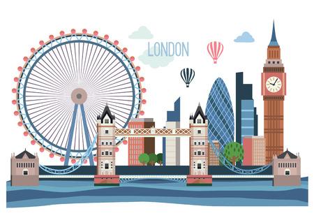built tower: London flat  landscape .