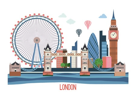 London landscape . Illustration