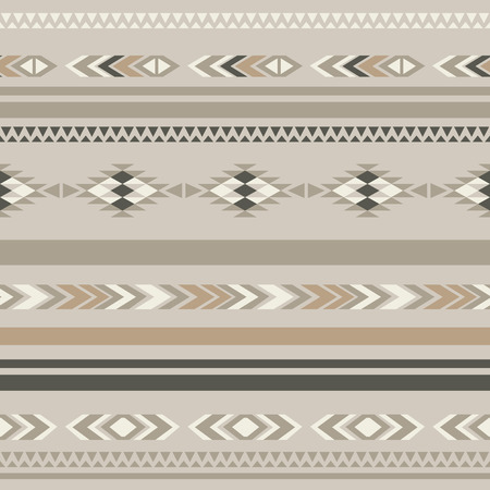 antic: Seamless ethnic folk ornamental pattern . Illustration