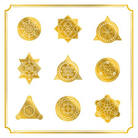 Heilige vormen met frame op witte achtergrond. Vector. Vector Illustratie