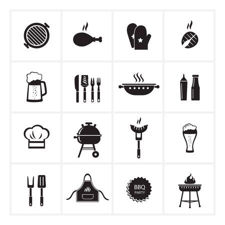 Barbecue icons.