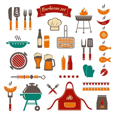 Barbecue color objects.
