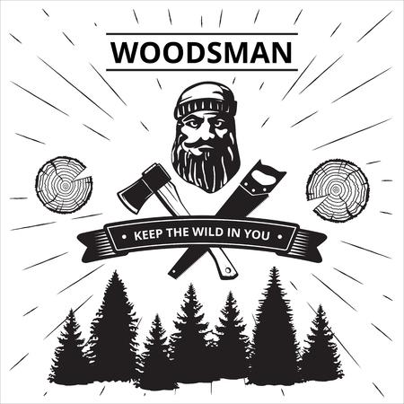 Woodsman poster. Illustration