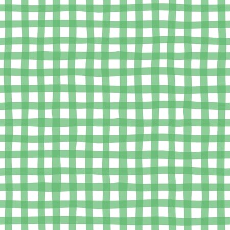 Checkered green seamless pattern Vector Illustration