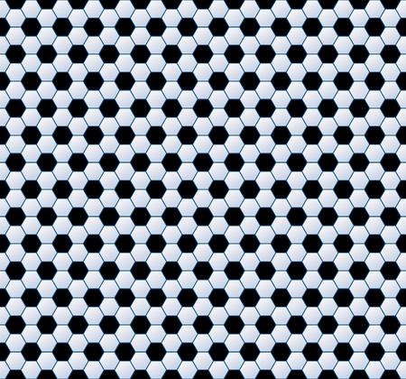 Vector hexagonal football seamless background . 矢量图像