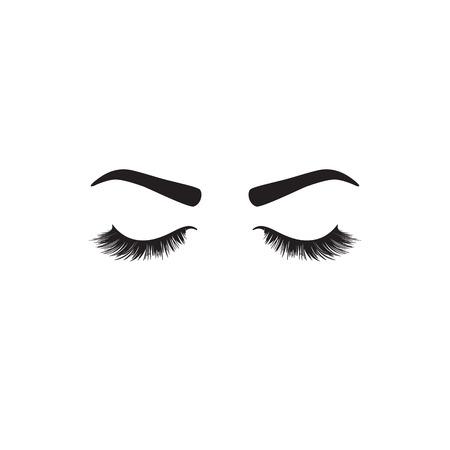 Closed eyes icon. Vector 矢量图像