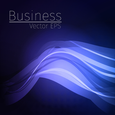 Vector wavy abstract  background for business and technology.