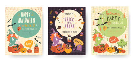 Vector illusrations set for halloween.