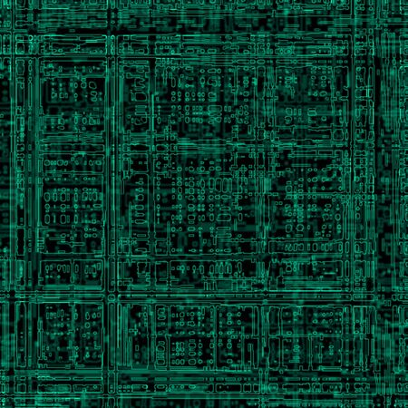 circuitboard: abstract illustration of electric circuit Stock Photo