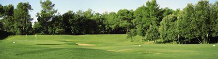 panoramic nature: Panorama of golf club