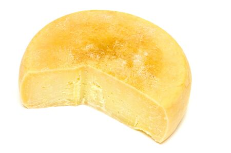 Home-made yellow cheese without a slice Stock Photo - 3533194