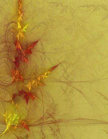 apophysis: Grungy foliage background generated by Apophysis