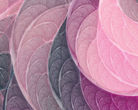 apophysis: Fantasy pink-purple fractal background generated in apophysis Stock Photo