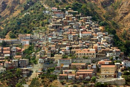 calabria: Typical village in Aspromonte of Calabria in Southern Italy