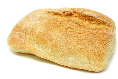 Typical home-made mediterranean bread isolated over white Stock Photo - 3768788