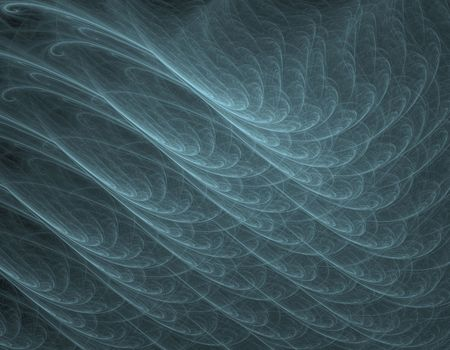 apophysis: Computer-generated fractal illustration of wavy anstract background