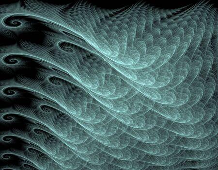 apophysis: Computer-genereated fractal illustration of wavy abstract background Stock Photo