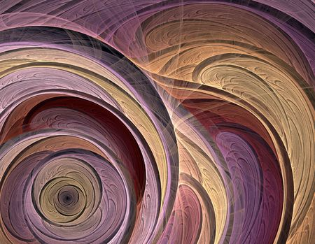 apophysis: Fractal abstract illustration of a sophisticated flower spiral