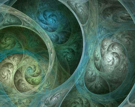 complicated: Abstract illustration of a complicated fractal spiral
