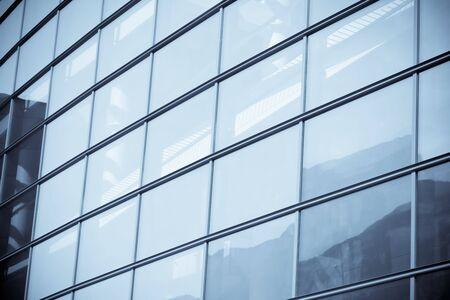 rhomb: Fragment of a modern glass building in selenium tone
