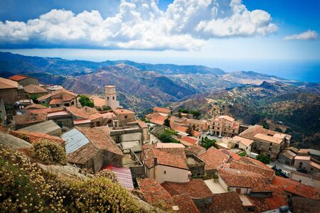 calabria: Fragment of Bova superiore, partially abandoned city of Calabria, southern Italy