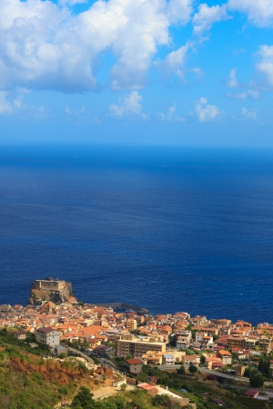 calabria: Scylla town from above, Calabria, Southern Italy