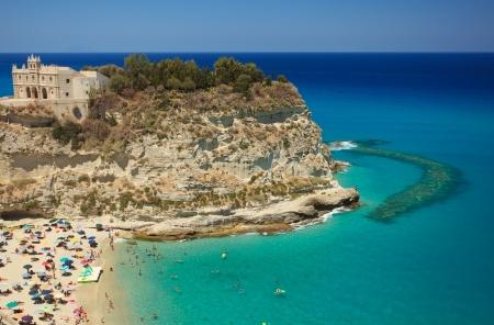 peninsula: Scenic landscape with beach and Tropea peninsula