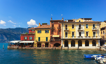 colrful: Colrful houses at lake Garda in Malcesine, Italy