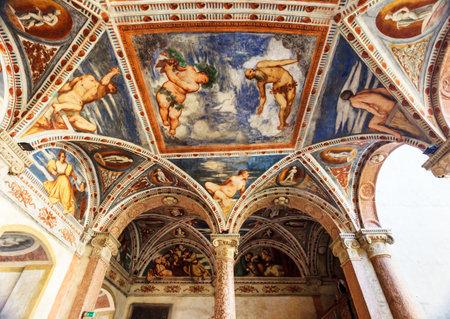 Frescoes of Buonconsiglio, ancient castle in Trento