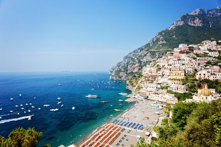 amasing: Amasing coast nearby Positano city in the southern Italy Stock Photo