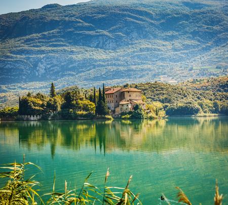 Beautiful Castel Toblino in Trentino, northern Italy