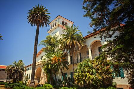 Old courthouse in Santa Barbara, California