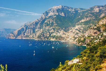 Amazing view on luxury Positano coast in southern Italy