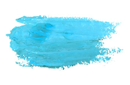 watercolor smear: Watercolor blue smear isolated on white background