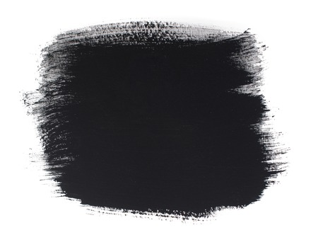 watercolor smear: Watercolor black smear isolated on white background Stock Photo