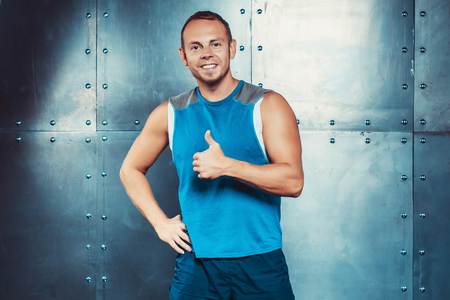 strenght: Sportsmen. fit male trainer man concept  fitness workout strenght power.
