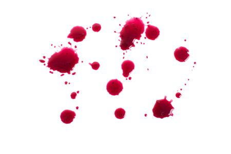 gore: Drops, spray jam, isolated on a white background