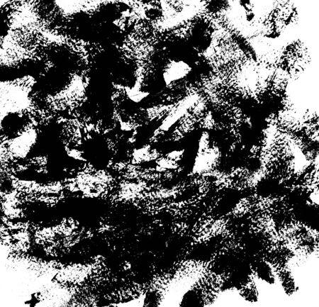 garabatos: textura, fondo, movimiento del cepillo, golpe de rimel negro, aislado en blanco