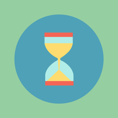 timepieces: vector illustration, icon hourglass slim design, a symbol of time.