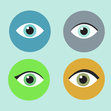 see: vector illustration icon of female eyes slim design, beauty, look, see, sight, lenses.