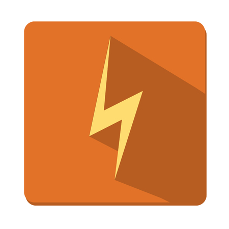 electrocute: Vector illustration, flat design icon lightning, button, a symbol of the web.