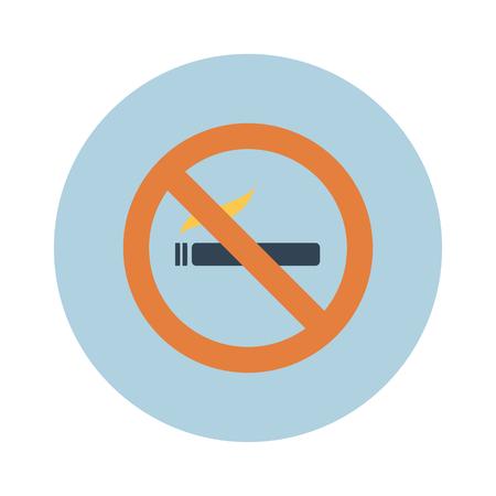 pernicious habit: Sign, icon smokes smoking, no smoking, sigreta. Vector