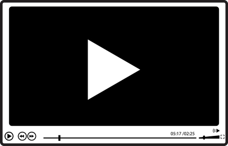 windows media video: Video player for web, falat design,  vector illustration. Illustration