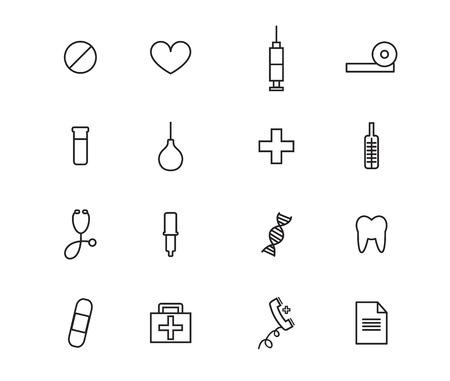 contour: health, medical contour icons  set vector illustration.