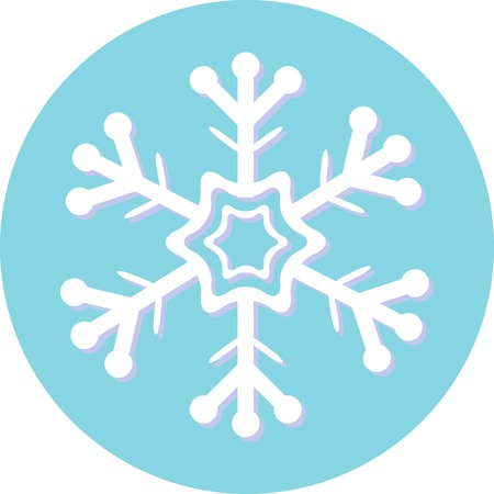 rime frost: Snowflakes set for Christmas design. Vector illustration. Illustration