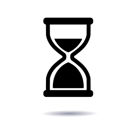 timepieces: Vector illustration, icon hourglass flat design, a symbol of time