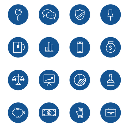 balances: Set of web linear icons for business, finance and communication. Vector illustration.