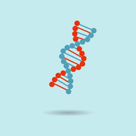 Vector colour illustration DNA icon flat desgn