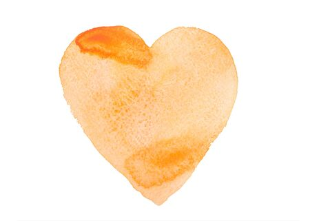 brush painting: Hand drawn watercolor heart isolated on a white background.